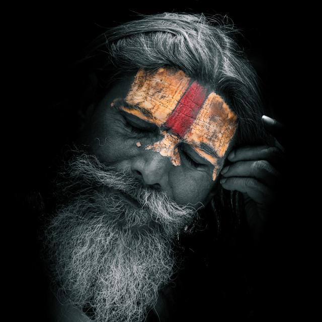 """Kathmandu Sadhu"" stock image"