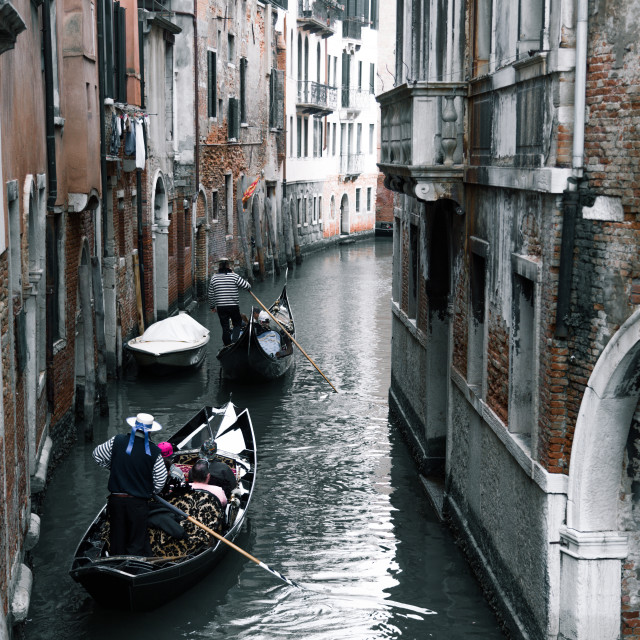 """Back streets of Venice"" stock image"
