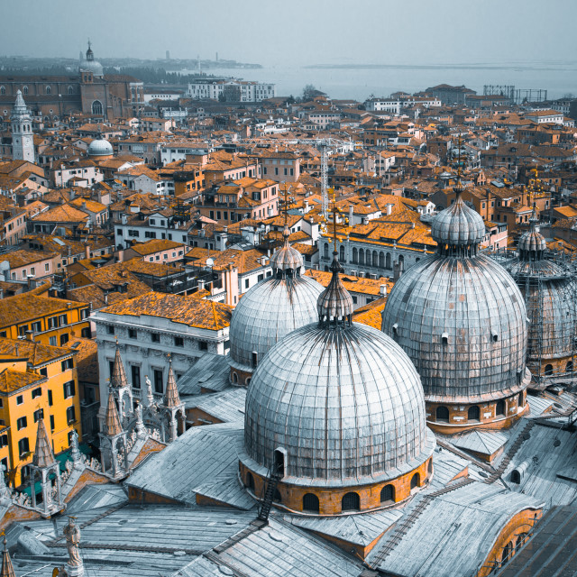 """Venice rooftops"" stock image"