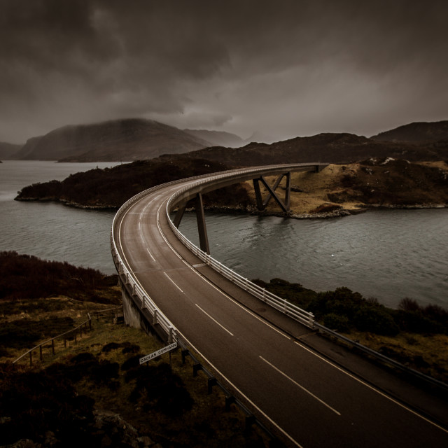 """Highland Bridge, Scotland"" stock image"