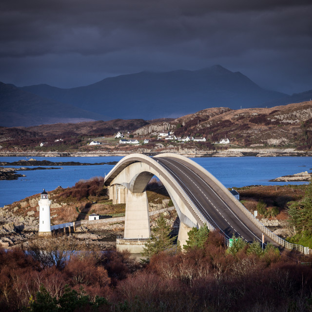 """Skye Bridge, Scotland"" stock image"