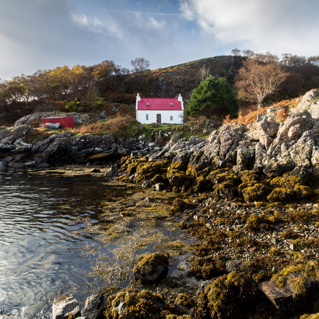 """Scottish Cottage"" stock image"