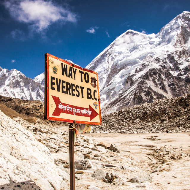 """The way to Everest"" stock image"