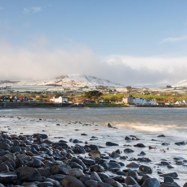 """Winter on the Antrim Hills"" stock image"