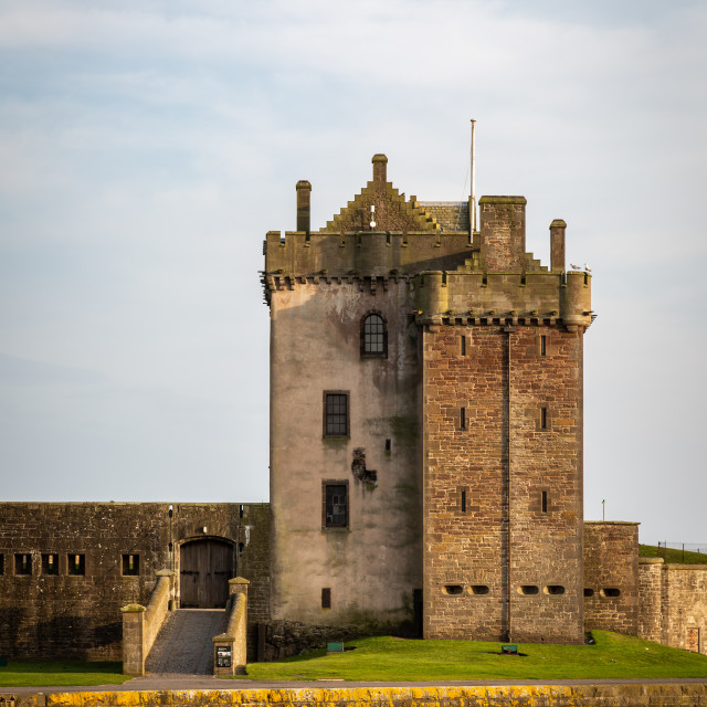 """Broughty Castle"" stock image"