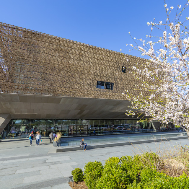 """The National Museum of African American History and Culture in spring,..."" stock image"