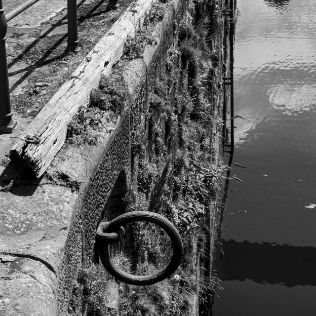 """""""black and white harbour close up"""" stock image"""