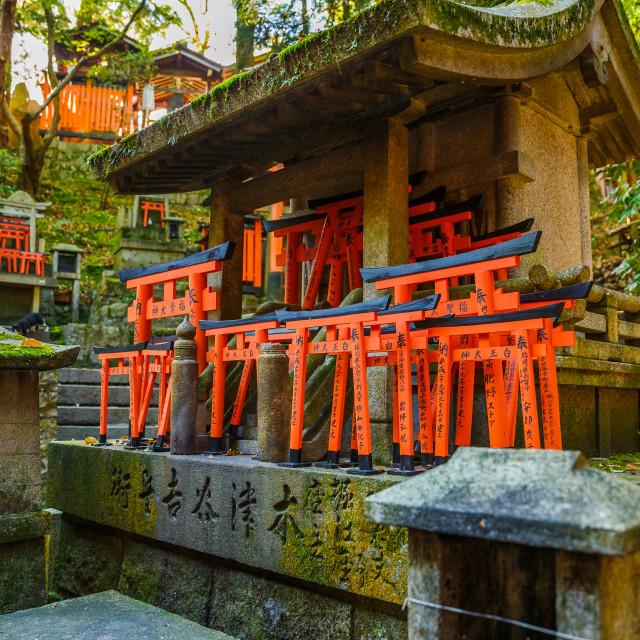 """Kyoto, Japan Fushimi Inari Taisha is the most important Shinto shrine famous..."" stock image"