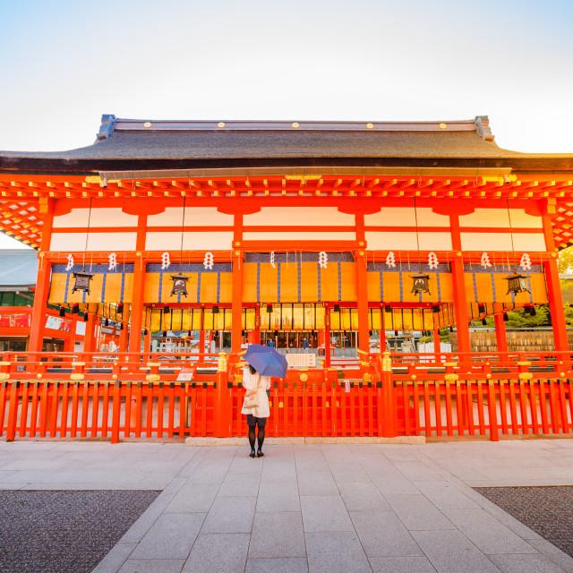 """Fushimi Inari taisha. Fushimi Inari is the most important shinto sanctuary..."" stock image"