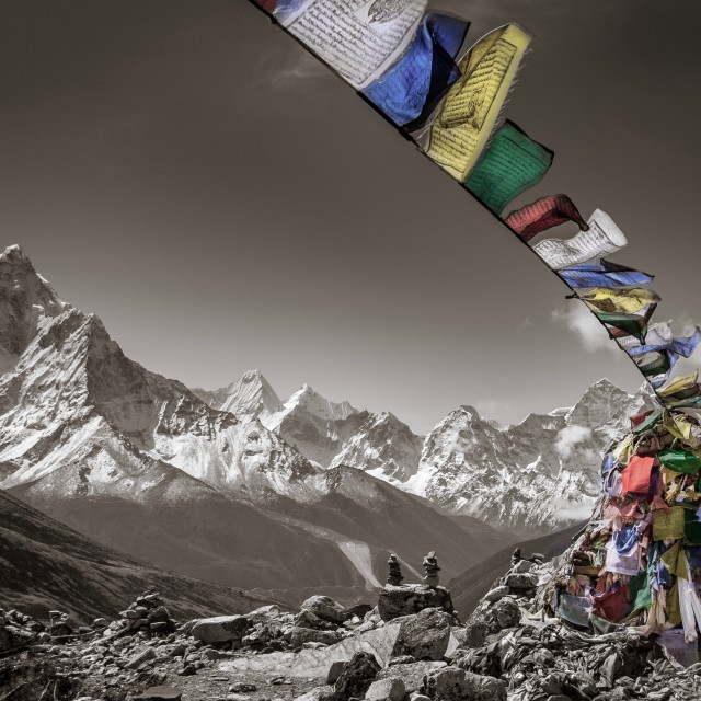 """Thukla Prayer flags"" stock image"