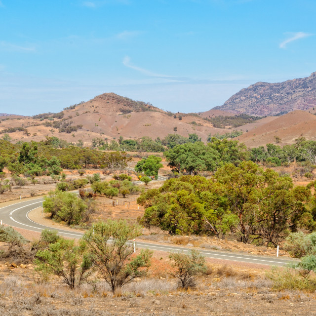 """View from the Hucks Lookout - Wilpena Pound"" stock image"