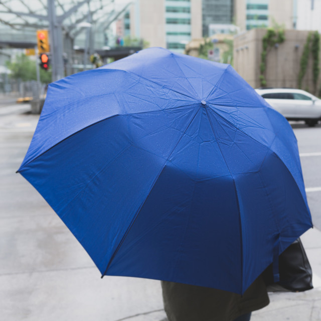 """Blue umbrella"" stock image"