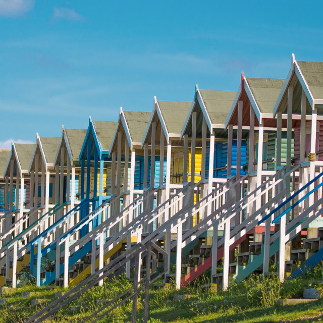 """Beach Huts"" stock image"