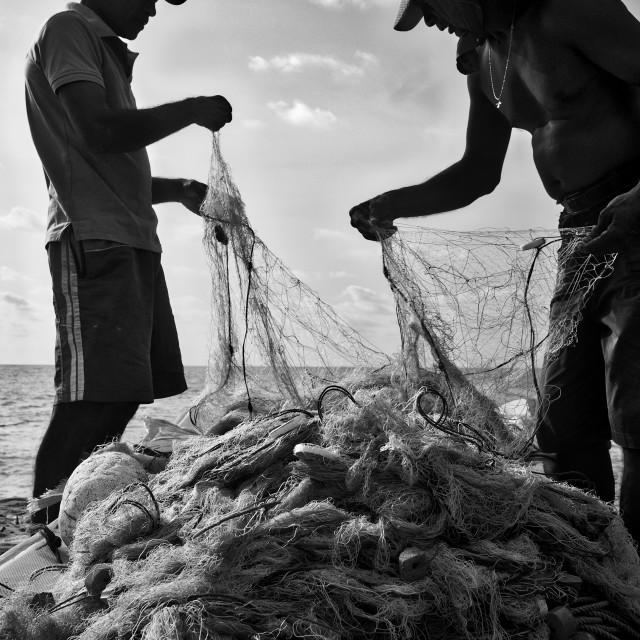 """""""Shri Lanka fishing"""" stock image"""