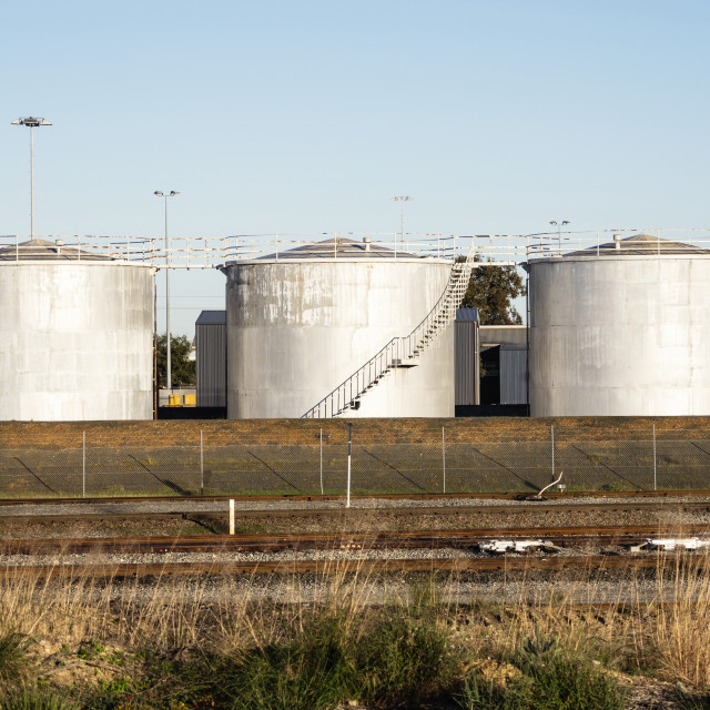 """Storage Tanks"" stock image"