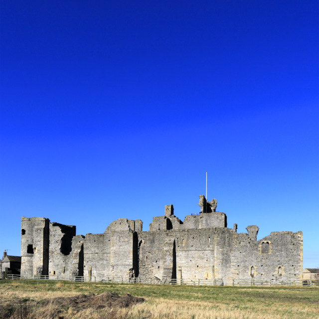 """Ruins of Middleham castle, Middleham village, North Yorkshire County,..."" stock image"