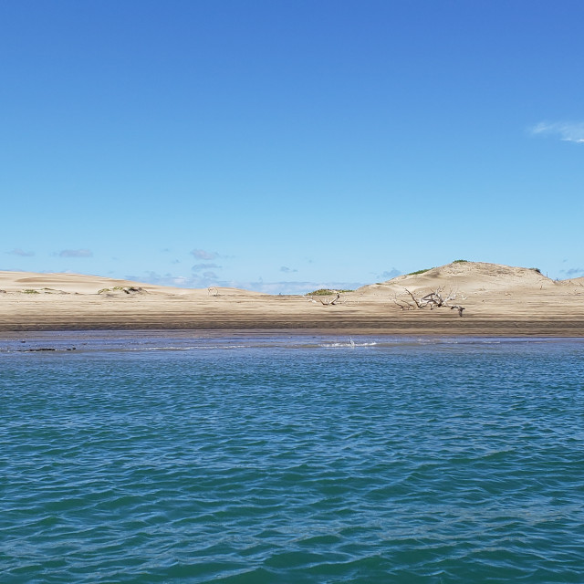 """Sky, sand, and sea, Baja California, Mexico"" stock image"