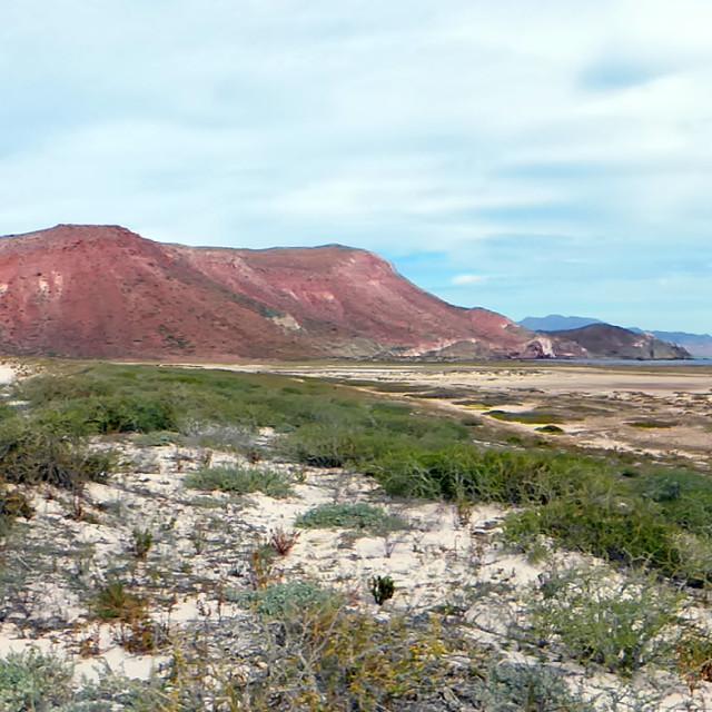 """Salt flats, Baja California, Mexico"" stock image"