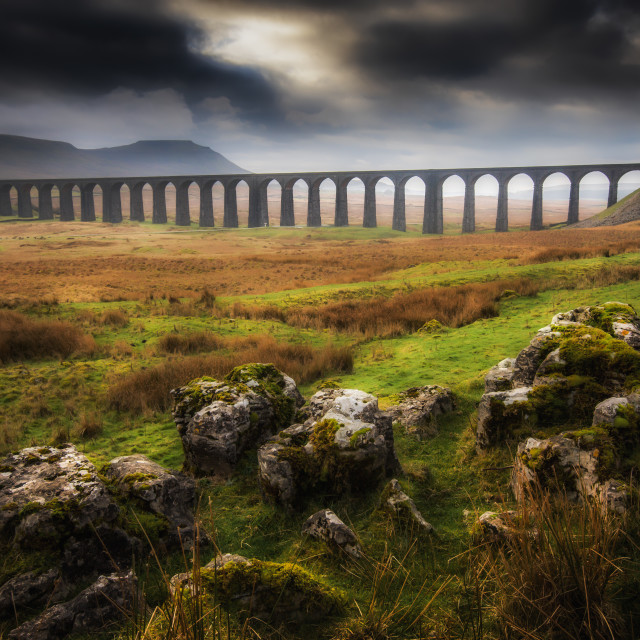 """Ribblehead Viaduct"" stock image"