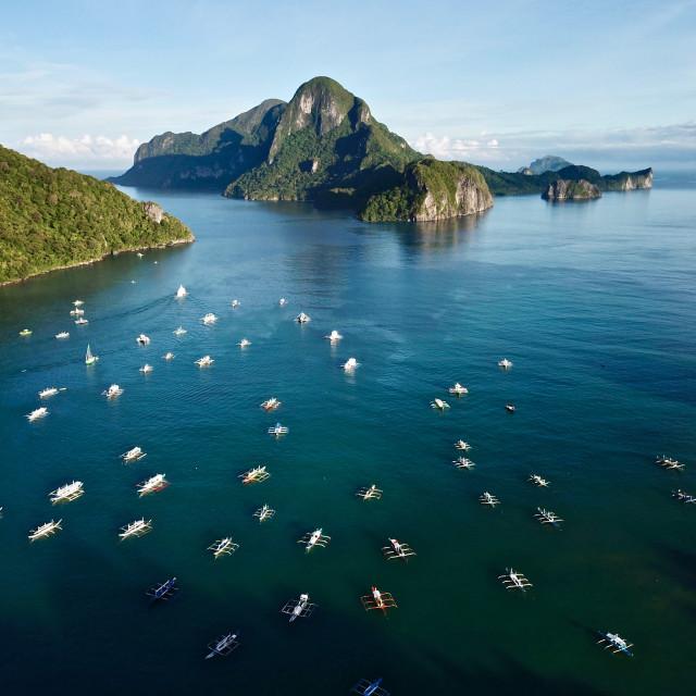 """Aerial: El Nido Palawan Philippines"" stock image"