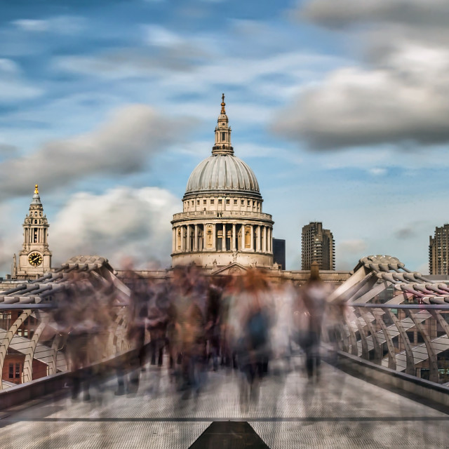 """The Ghosts of St Paul's"" stock image"