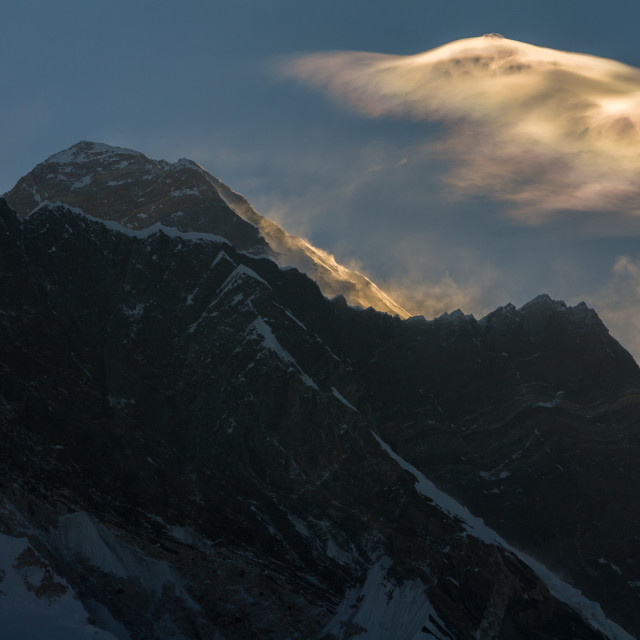 """Mount Everest at the break of dawn"" stock image"