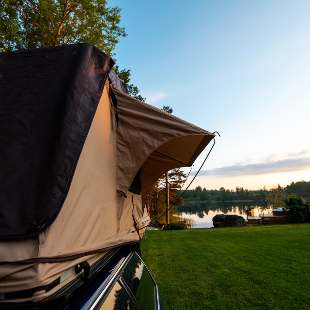 """""""Roof top camping"""" stock image"""