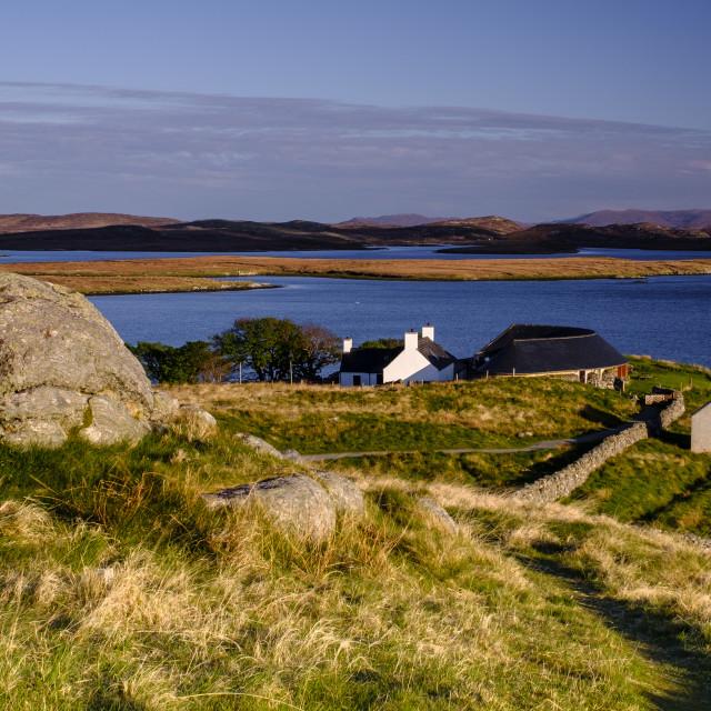 """Isle of Harris from Callanish"" stock image"