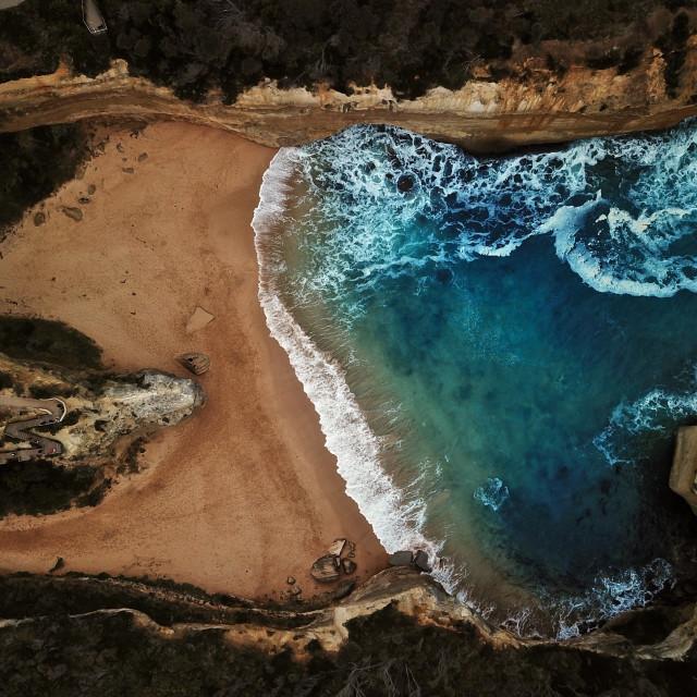 """Aerial: Beach"" stock image"