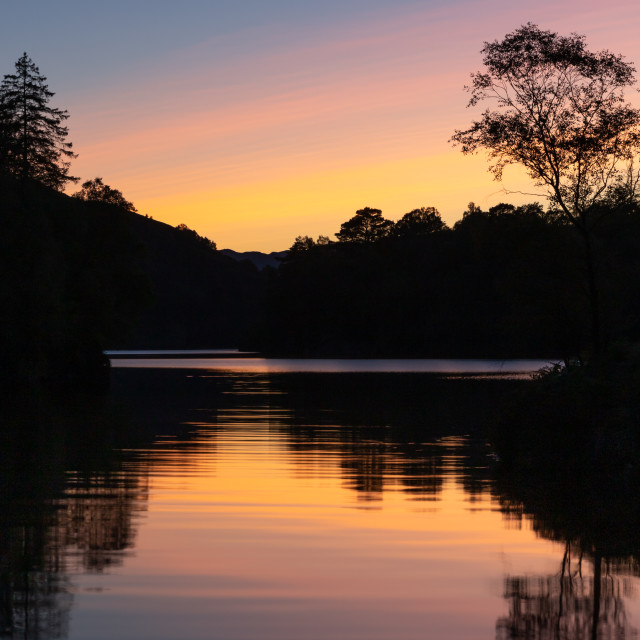 """Loch Katrine sunset"" stock image"