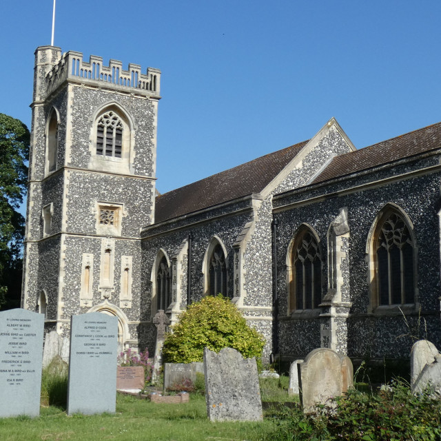 """""""Havering-Atte-Bower Church 2"""" stock image"""