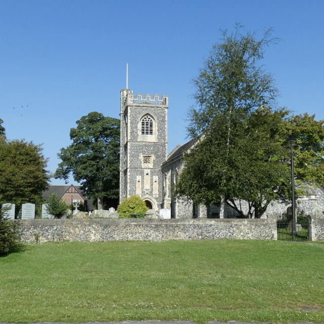 """""""Havering-Atte-Bower Church"""" stock image"""