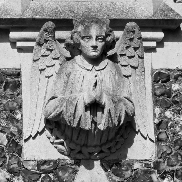 """""""Havering-Atte-Bower Church Angel"""" stock image"""