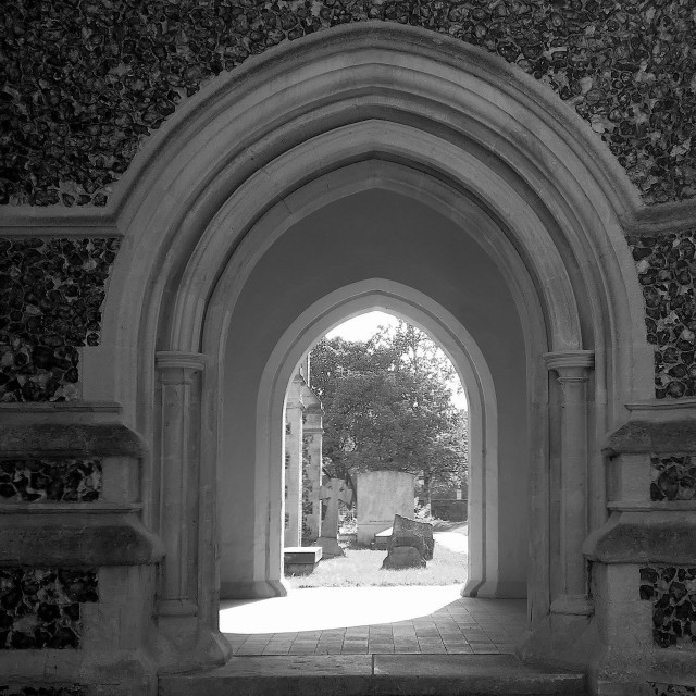 """""""Havering-Atte-Bower Church Arch"""" stock image"""