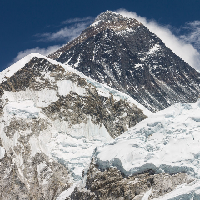 """Mtount Everest seen from Kala Patthar peak"" stock image"