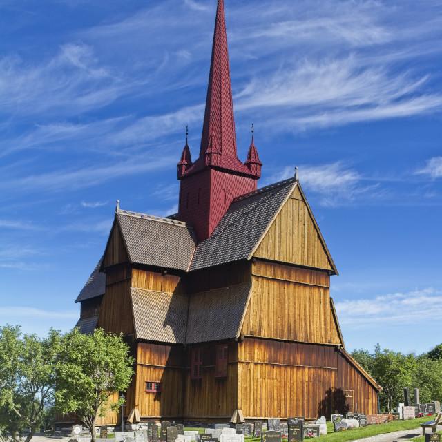 """Ringebu Stave church"" stock image"