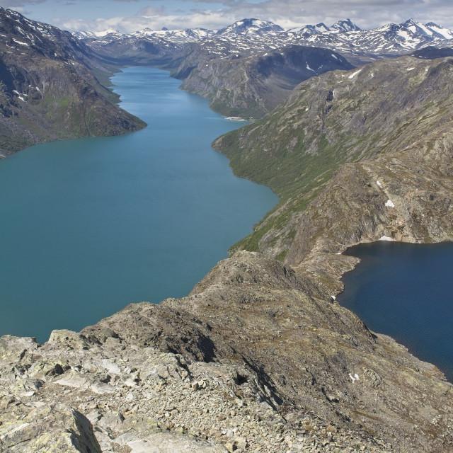 """""""Besseggen in Norway"""" stock image"""