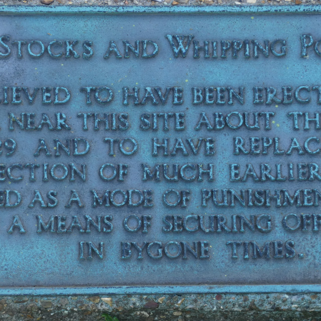 """""""Punishment - whipping post and stocks from a bygone age 4"""" stock image"""