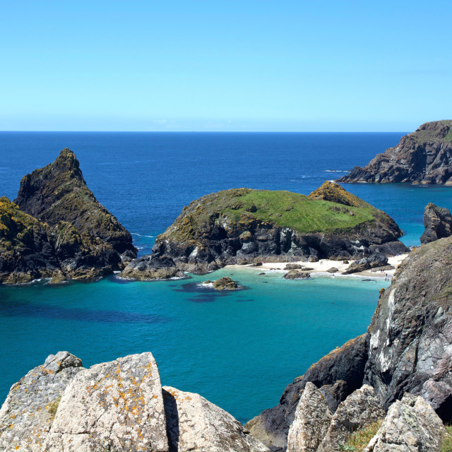 """Kynance Cove"" stock image"