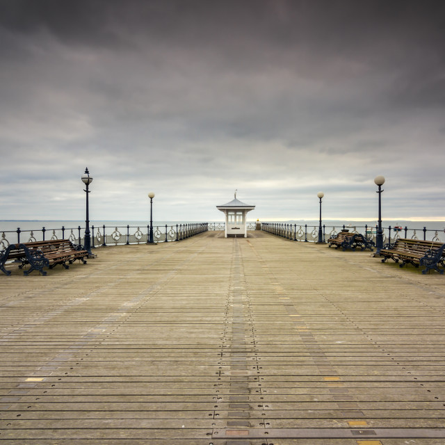 """""""a moment in Swanage"""" stock image"""