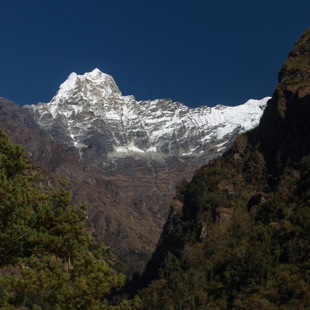 """Kusum Kanguru (6367m). Solukhumbu, Nepal."" stock image"