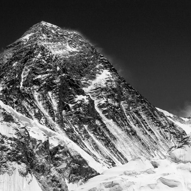 """Mount Everest seen from Kala Patthar"" stock image"