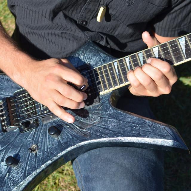 """Playing Guitar"" stock image"