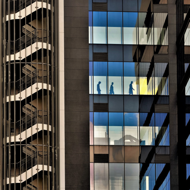"""""""Office building in downtown Singapore"""" stock image"""