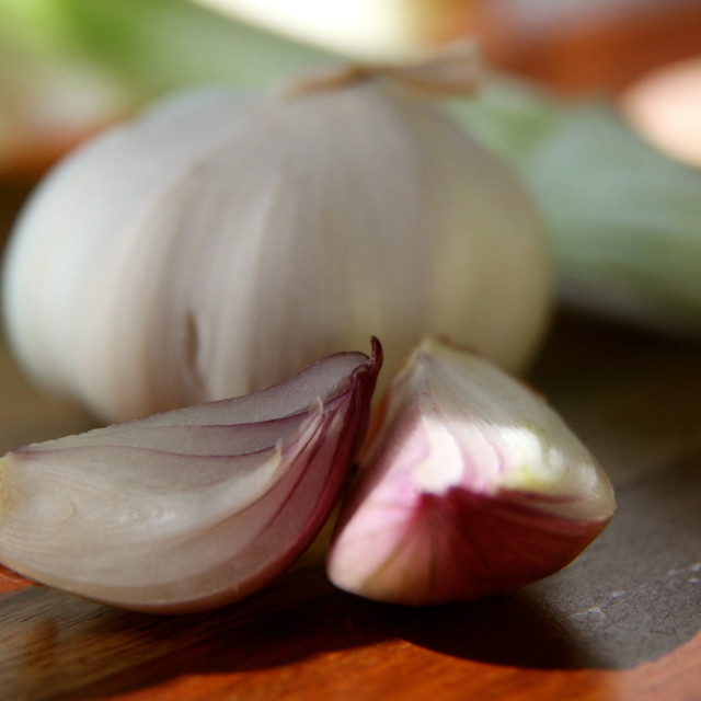 """""""Simply shallots with a hint of garlic"""" stock image"""