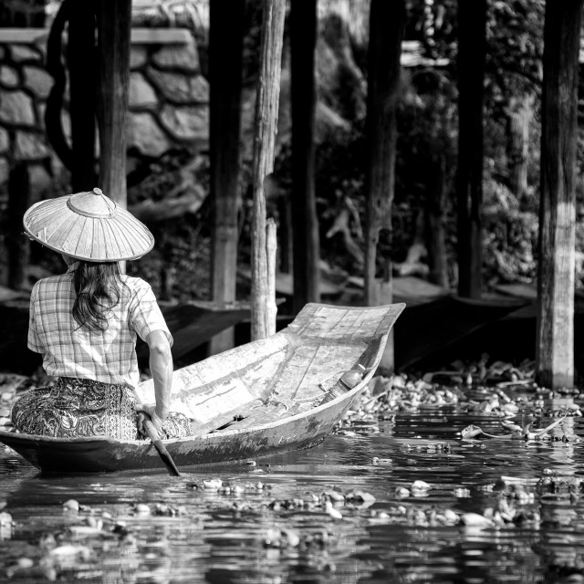 """Rangoon, Myanmar, lake Inle"" stock image"