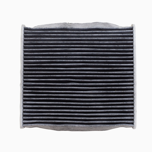 """Dust and dirty car air conditioning filter isolated"" stock image"