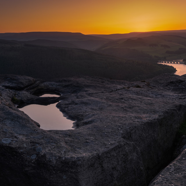 """Blue hour on Bamford Edge"" stock image"