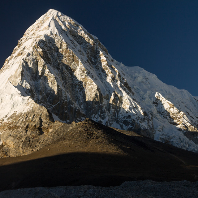 """""""Pumori (7161m) and Kala Patthar (5645m)"""" stock image"""