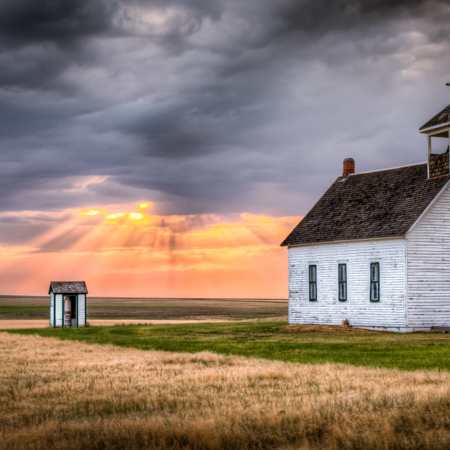"""Abbott Church at Sunset"" stock image"